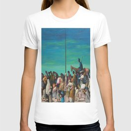 """African American Classical Masterpiece """"Mississippi River - Trail of Tears No. 2"""" by Benny Andrews T-shirt"""