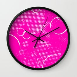 Texture #26 in Hot Pink Wall Clock