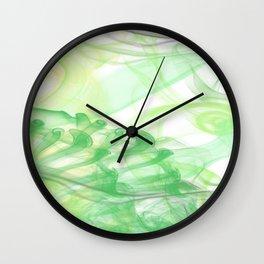 Green Smoke Wall Clock