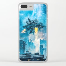 Voyager by Night Clear iPhone Case