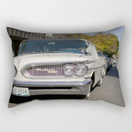 Vintage white Pontiac Rectangular Pillow