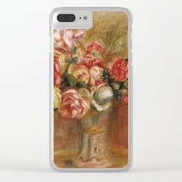"""Auguste Renoir """"Roses dans un vase de Sèvres"""" Clear iPhone Case"""