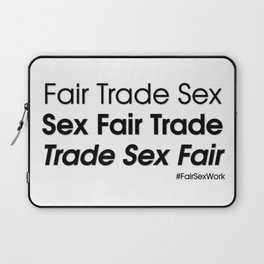 Trade sex fair Laptop Sleeve
