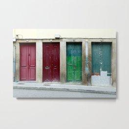 Portugal Doors 2 Metal Print
