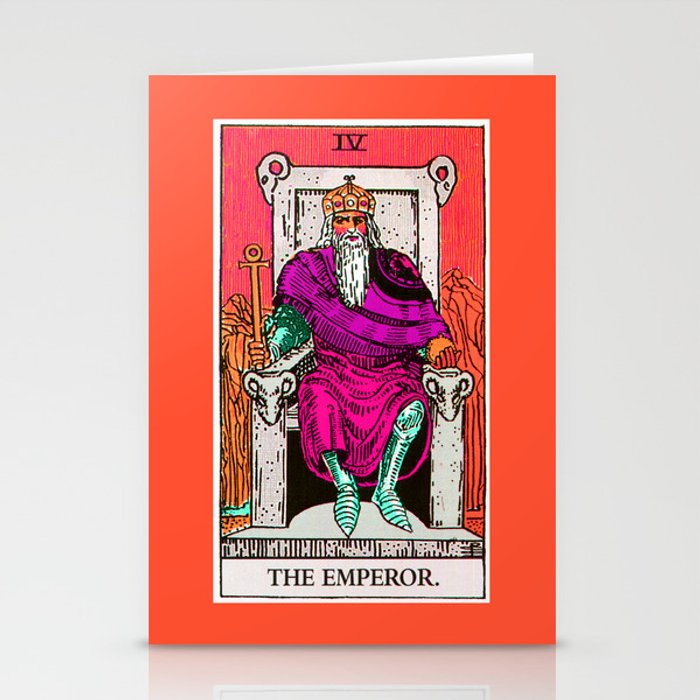 4. The Emperor- Neon Dreams Tarot Stationery Cards