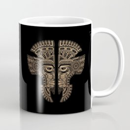 Stone Aztec Twins Mask Illusion Coffee Mug