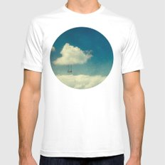 Silver Lining MEDIUM White Mens Fitted Tee