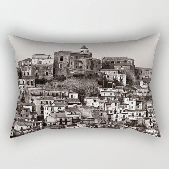 "Urban Landscape of Sicily ""VACANCY"" zine Rectangular Pillow"