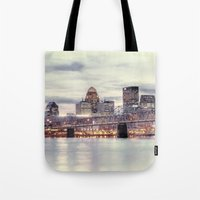 kentucky Tote Bags featuring Louisville Kentucky by ThePhotoGuyDarren