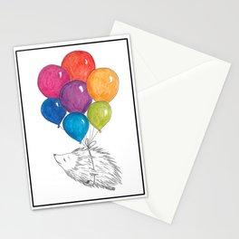 Soar - Rainbow Balloon Hedgehog Stationery Cards