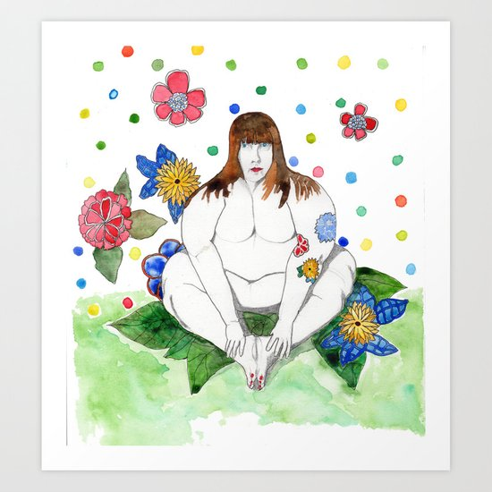 In the garden Art Print