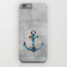 Maritime Design- Nautic Anchor Navy Marine Beach iPhone Case