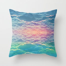 INSIDE THE CLOUDS Throw Pillow