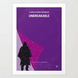 No986 My Unbreakable minimal movie poster Art Print