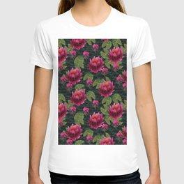 lotus pattern T-shirt