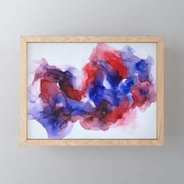 Collision in Red and Blue Framed Mini Art Print