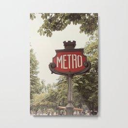 A Metro In Paris Metal Print