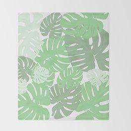 MONSTERA DELICIOSA SWISS CHEESE PLANT Throw Blanket