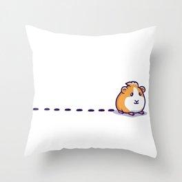 Guinea Pig Pellet Throw Pillow