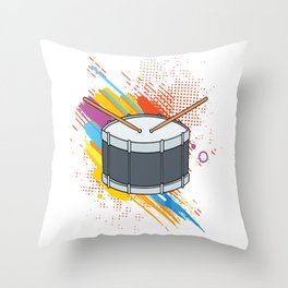 Drumline Drums Drumming Marching Band Drummer Gift Throw Pillow