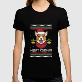 Merry Corgmas Motive for a Dog Lover T-shirt