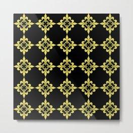 fLEUR DE LIS 4 GOLD AND BLACK Metal Print