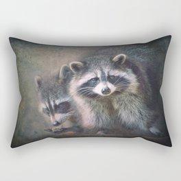 The two Raccoons.. Rectangular Pillow