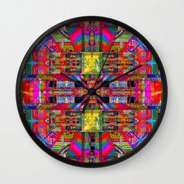 Kaleidoscope Window no. 4 Wall Clock