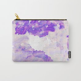 Purple Marble Splatter Pattern Carry-All Pouch