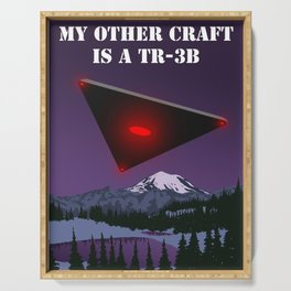 My Other Craft Is A TR-3B Serving Tray