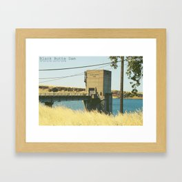 Black Butte Dam Framed Art Print