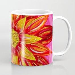 Flaming Sunflower Coffee Mug