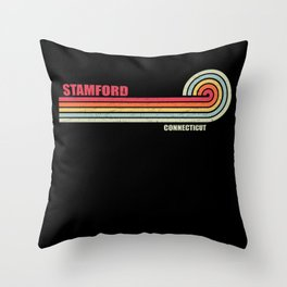 Stamford Connecticut City State Throw Pillow