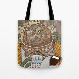 Commander Whiskers Tote Bag
