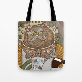 Commander Whiskers Tote Bag