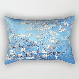 Vincent Van Gogh Almond Blossoms. Sky Blue Rectangular Pillow