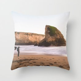 Shark Fin Cove Wanderer Throw Pillow