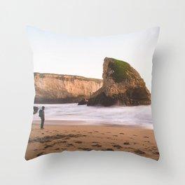 Shark Fin Cove Wanderer Throw Pillow