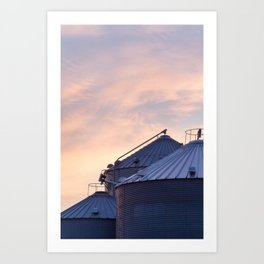 Sunset on the Farm Art Print