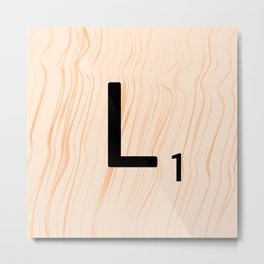 Scrabble Letter L - Large Scrabble Tiles Metal Print