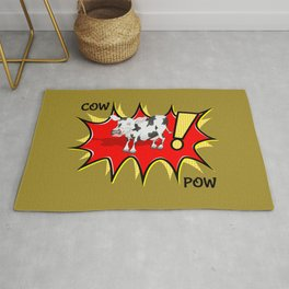 Cow in a KAPOW starburst Rug