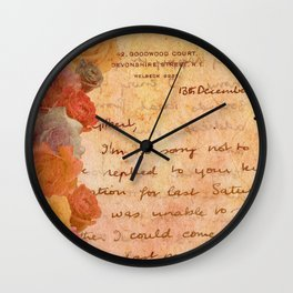 The Lonely Rose Garden Wall Clock