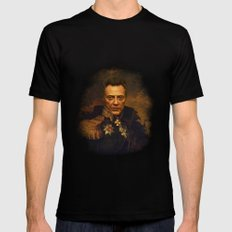 Christopher Walken - replaceface Mens Fitted Tee MEDIUM Black