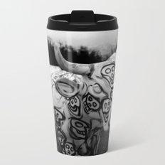 Skull Cow Metal Travel Mug