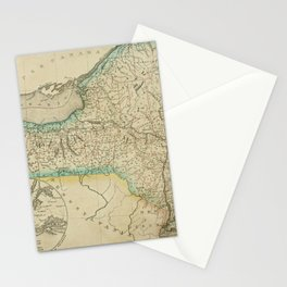 Vintage Map Print - A New Universal Atlas of the World (1825) - New York Stationery Cards