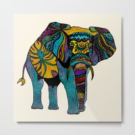 Elephant of Namibia Metal Print