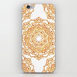 Orange Mandala iPhone Skin