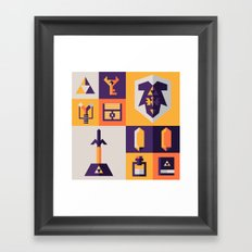 Legend of Zelda Items Framed Art Print
