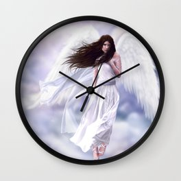 Some Clouds Have Wings Wall Clock
