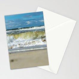 Beach North Sea Waves Denmark Hvide Sande Stationery Cards